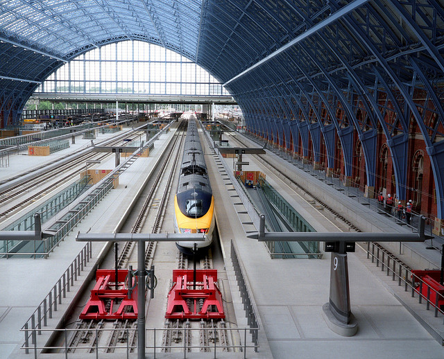 Eurostar at a platform